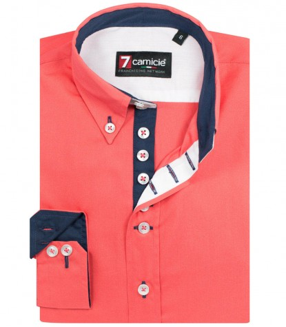 Shirt Francesco poplin Coral