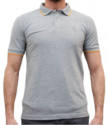 FLUORESCENT GREY AND ORANGE CAPRI POLO