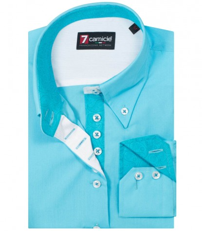Shirt Silvia Melange Light Blue