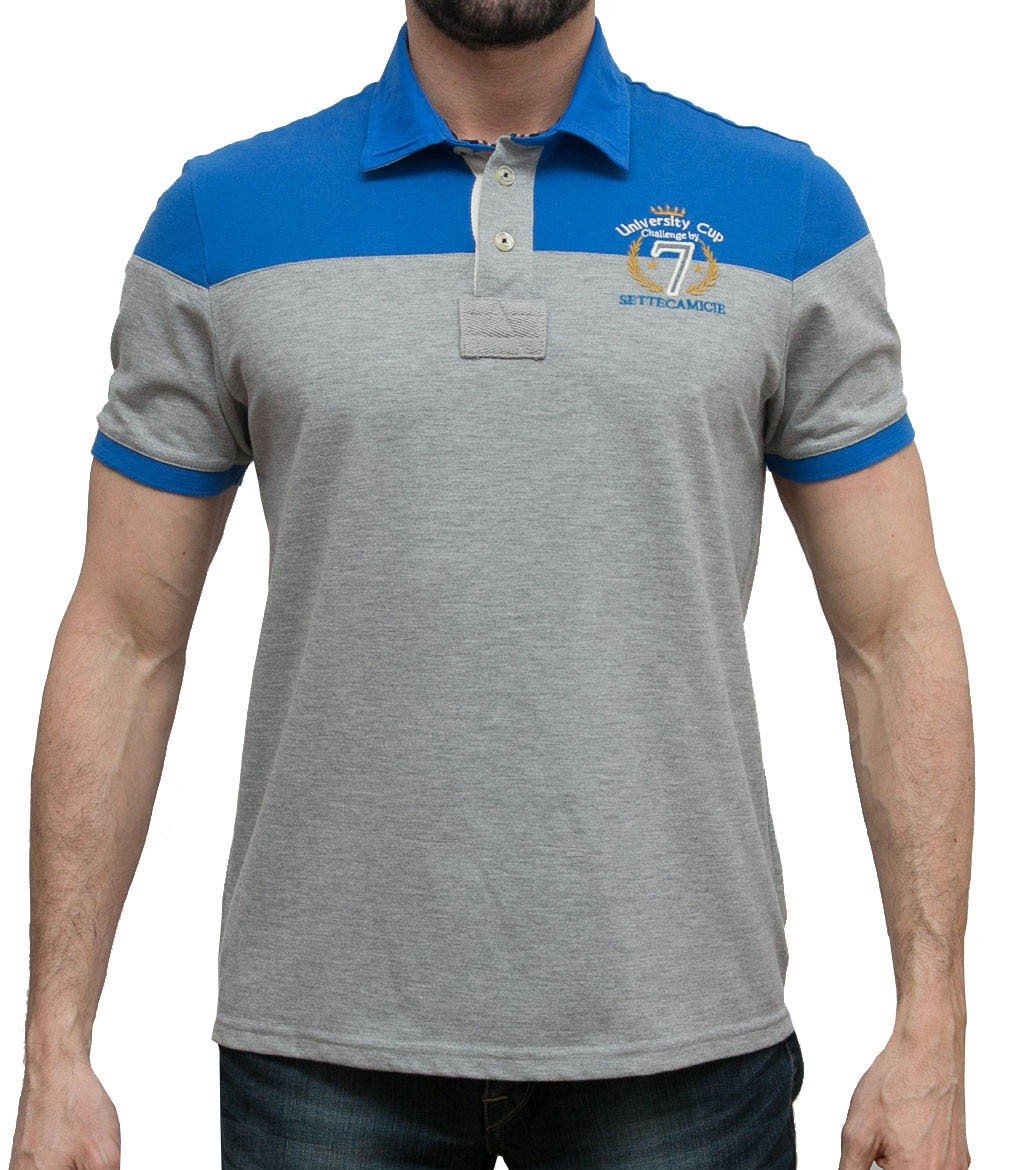 Men 39 s polo shirt short sleeve solid cotton piquet for Man in polo shirt