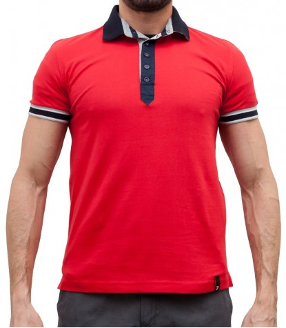 POLO POUR HOMME ROUGE