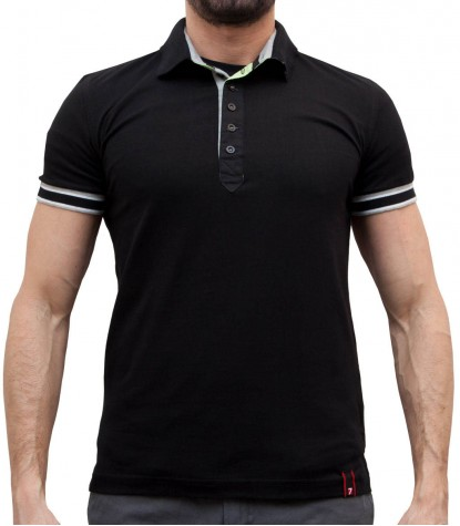 BLACK POLO FOR MEN