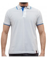 WHITE POLO FOR MEN IN PIQUé TISSUE