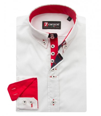 Shirt Francesco poplin White