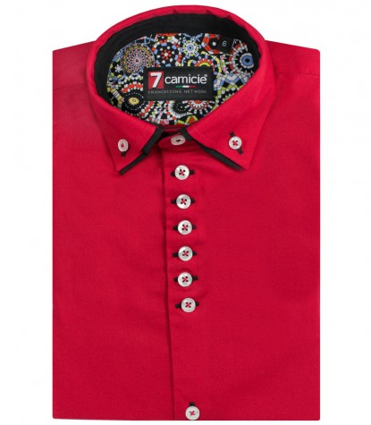 Shirt Renzo poplin Red