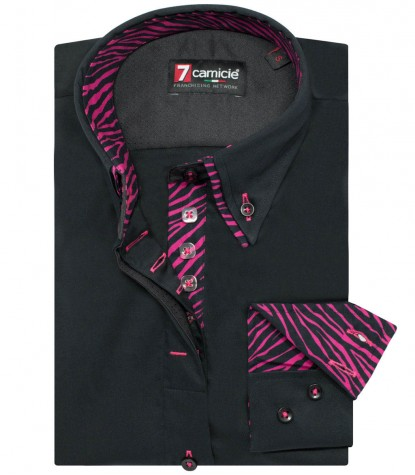 Shirt Silvia Satin Black