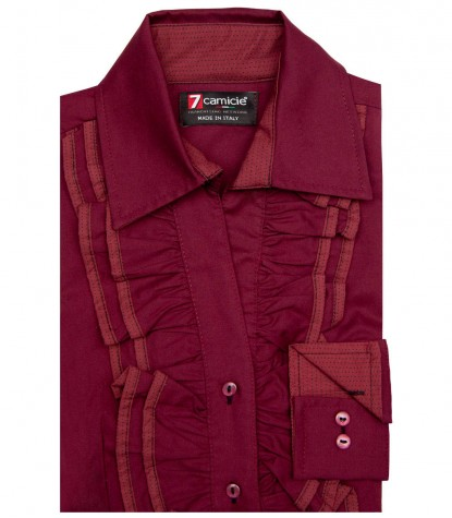 Shirt Giulietta Cotton Red Bordeaux