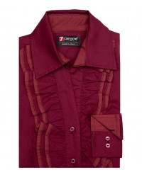 Shirt Venezia Cotton Red Bordeaux