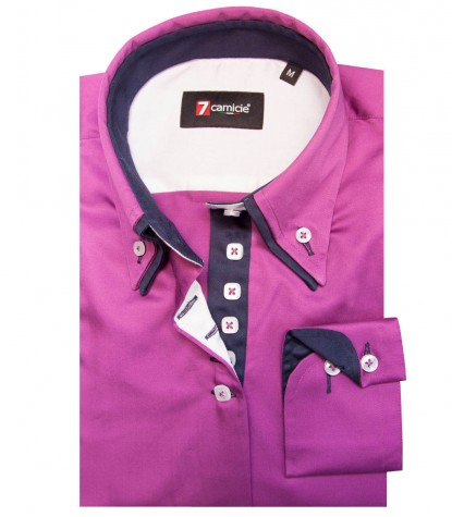 Shirt Elena Satin Cyclamen Violet