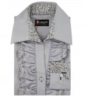 Shirt Sofia Satin Light Grey