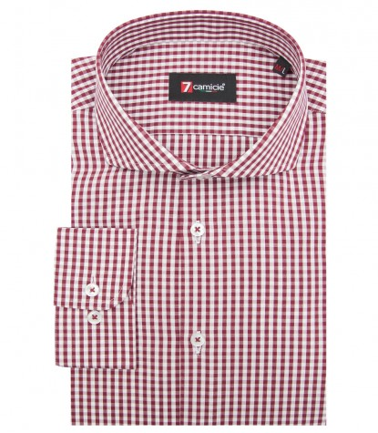 Shirt Napoli Cotton WhiteBordeaux