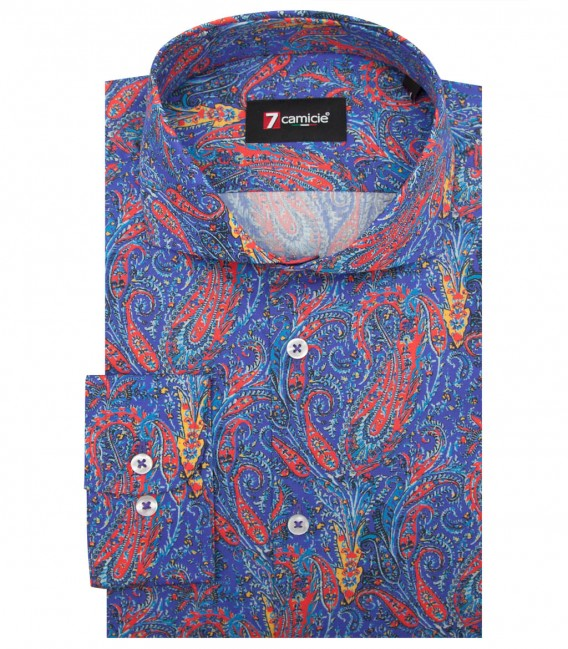 Shirt Napoli Cotton Purple and Red