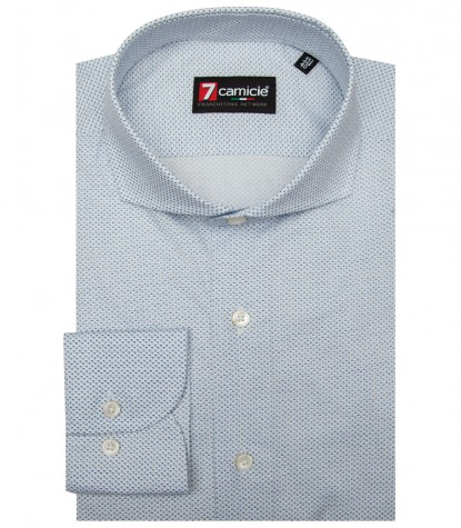 Shirt Napoli Cotton BlueWhite