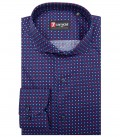 Shirt Napoli Cotton BlueBordeaux