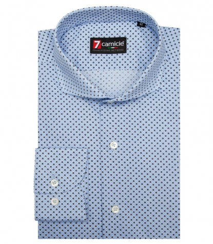 Shirt Napoli Cotton BlueLite Blue