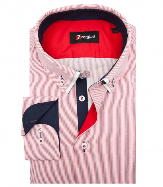 Shirt Bernini Satin WhiteRed
