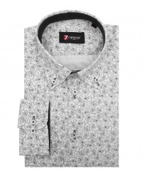 Shirt Leonardo Satin WhiteBlack