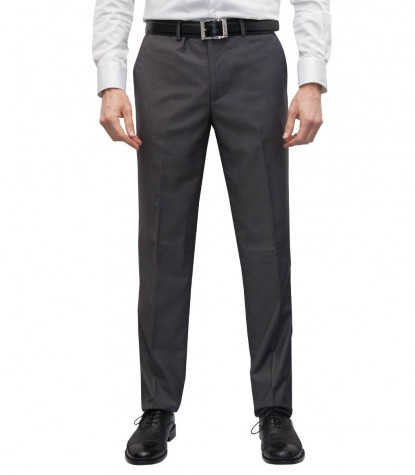Trousers Men full color Medium grey