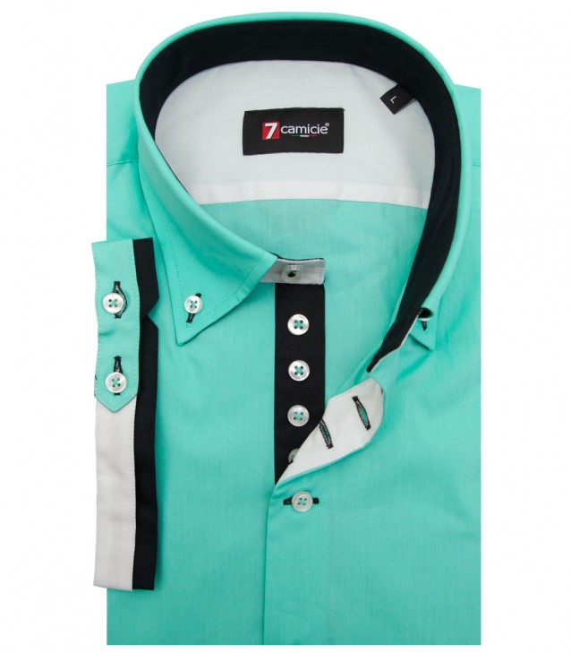 Shirt Marco Polo poplin Water Green