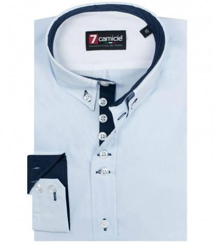 Shirt Francesco poplin Light Blue