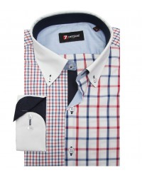 Shirt Matteo Oxford RedBlue