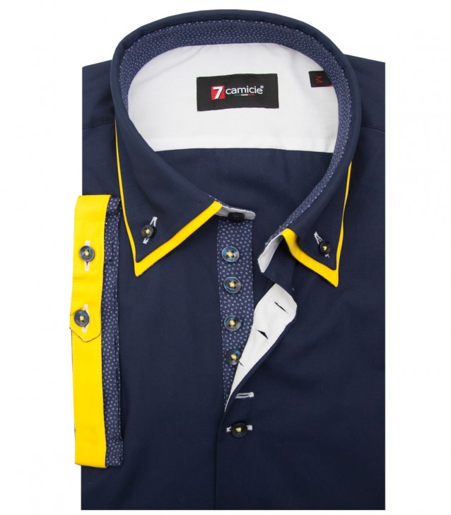 Shirt Donatello poplin Blu