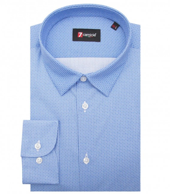 Shirt Romeo Cotton WhiteBlue