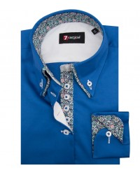 Shirt Elena Satin Bluette