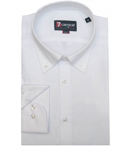 Camicia No Stiro Leonardo Oxford Bianco