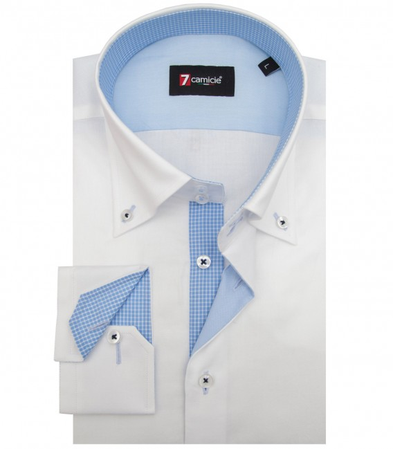 Chemises Roma Oxford blanc