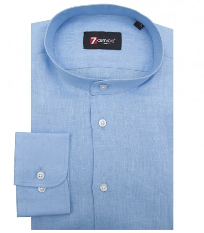 Shirt Caravaggio Linen Light Blue