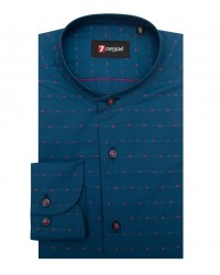 Shirt Caravaggio Cotton Avion and Fucsia