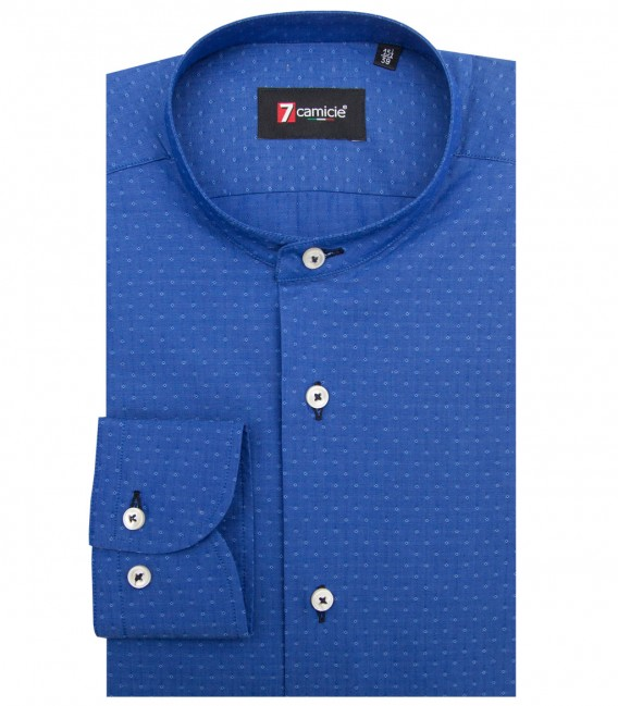 Shirt Caravaggio Cotton Ink Blue