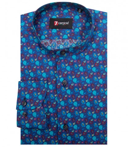 Camisas Caravaggio popelina stretch Avione and Red