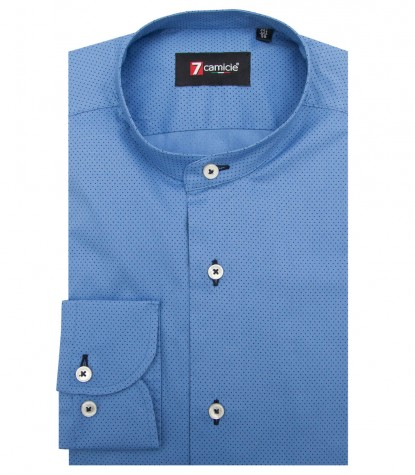 Shirt Caravaggio stretch poplin Blue AvionBlue