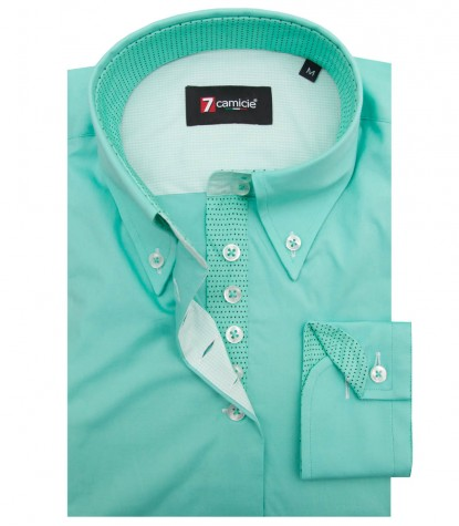Shirt Silvia stretch poplin Water Green