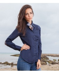 Shirt Beatrice stretch poplin Blu