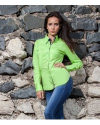 Shirt Elena stretch poplin Green