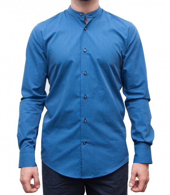 Shirt Caravaggio Cotton Light BlueWhite