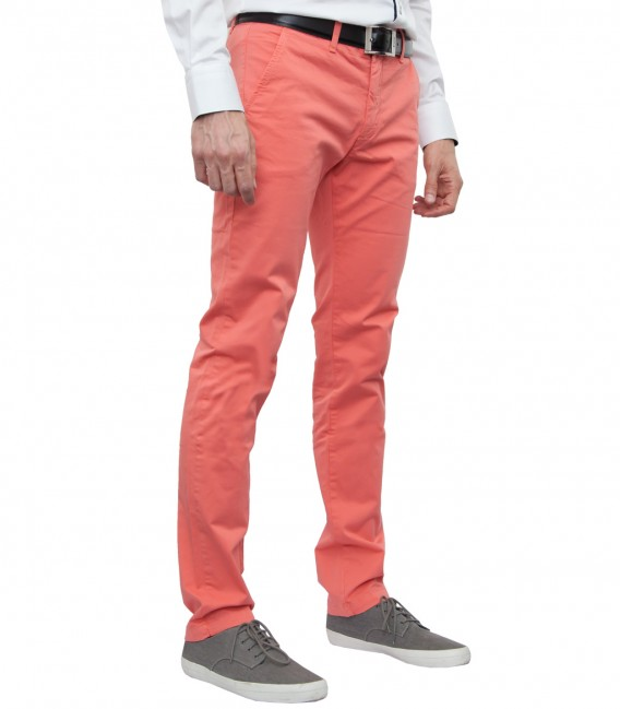 Trousers cotton gabardine red