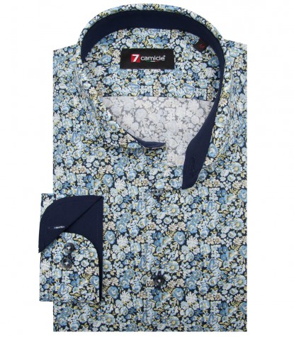 Shirt Napoli Poplin BlueLite Blue