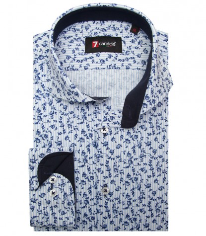 Shirt Napoli Oxford WhiteLite Blue