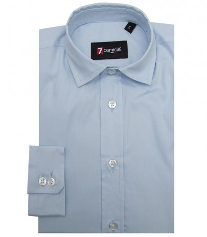 Shirt Paolo poplin Light Blue