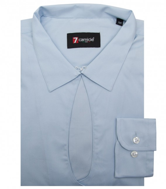 Shirt Sofia stretch poplin Light Blue