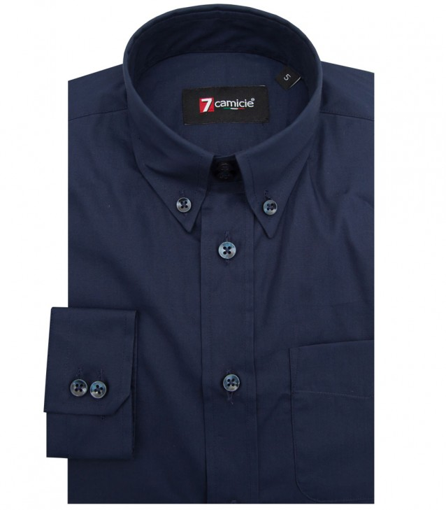 Shirt Francesco poplin Blu