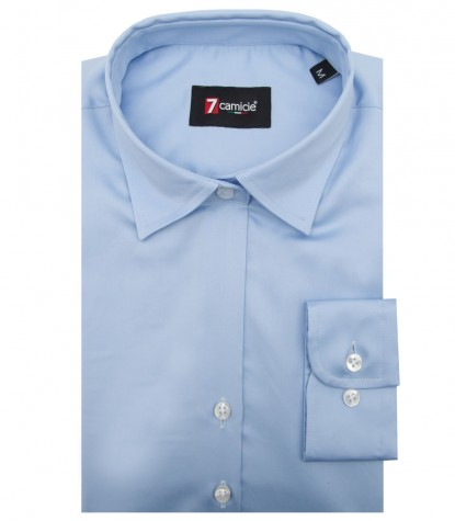 Shirt Giulietta Satin Light Blue