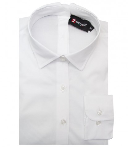 Shirt Sofia stretch poplin White