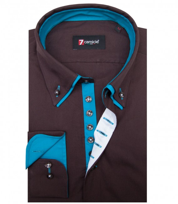 Shirt Donatello poplin Brown