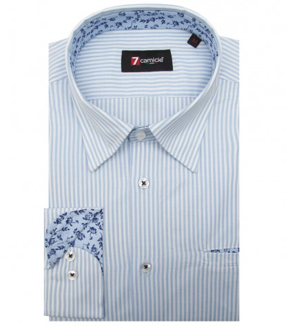 Shirt Tiziano Super oxford WhiteLite Blue