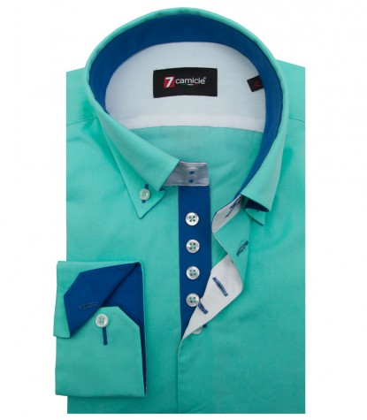 Shirt Roma poplin Water Green